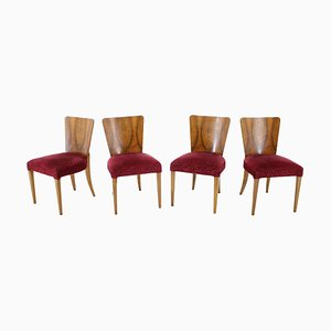 Art Deco Model H-214 Dining Chairs by Jindrich Halabala for Up Závody, 1940s, Set of 4