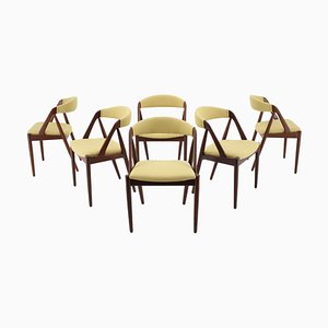Model 31 Teak Dining Chairs by Kai Kristiansen for Shou Andersen, Denmark, Set of 6