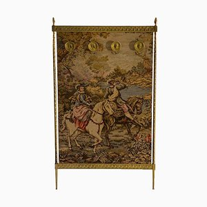 Handmade Tapestry with Gold-Colored Frame