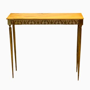Antique Style Console Table with Marble Surface