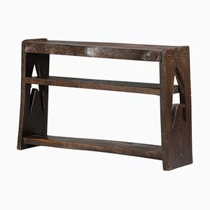 Brutalist French Wooden Console Table