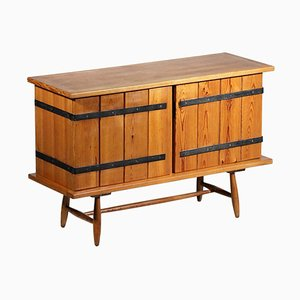 French Pine and Wrought Iron Sideboard, 1960s