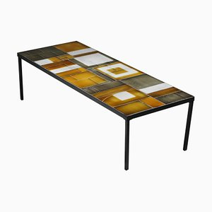 Large Ceramic Coffee Table by Roger Capron, 1960s
