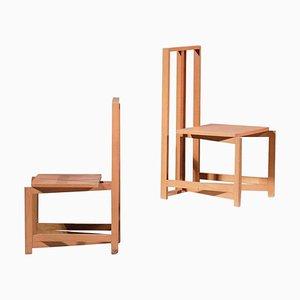 Modernistische Französische Stühle von Philippe Parent, 2er Set