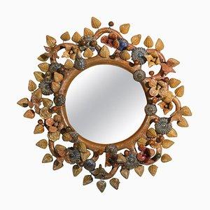 Französischer Keramik Spiegel im Stil von Vautrin Line & George Jouve