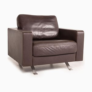 Leather Armchair in Dark Brown from Gyform