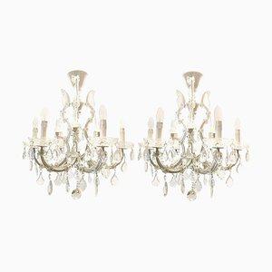 Italian Maria Theresa Six-Light Chandeliers, Set of 2