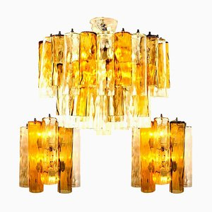 Extra Large Barovier Toso Light Fixtures from Mazzega, Set of 3