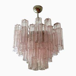 Lámpara de araña de cristal de Murano rosa Siglo XXI