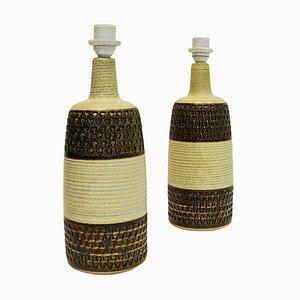 Danish Stoneware Table Lamps by Einar Johansen for Søholm Keramik, Bornholm, 1960s, Set of 2