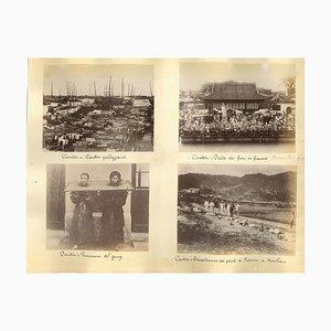 Unbekannt, Verbrechen und Strafe in Canton, Ethnographische Fotografien, 1880er / 90er, 6er Set