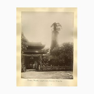Unknown - Ancient View of the Temple of Canton - Original Albumen Prints - 1890s