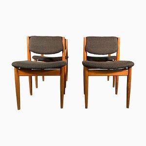 Esszimmerstühle von Finn Juhl für France & Son, 1960er, Set of 4