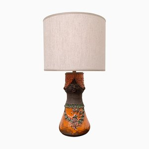 Ceramic Table Lamp by Theresa Bataille for Dour Belgium