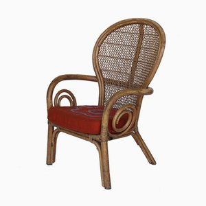 Vintage Bamboo and Rattan Armchair, 1960s