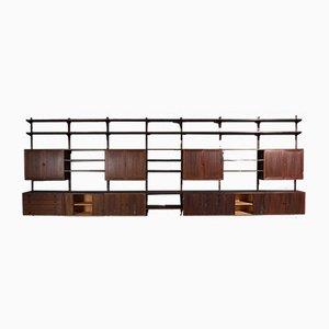Système d'Étagère Murale en Palissandre de HG Furniture