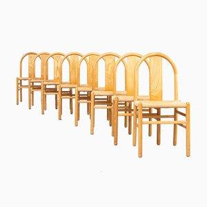 Runde Bugholz Esszimmerstühle von Annig Sarian für Tisettanta, 1980er, 8er Set