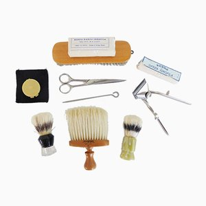 Italian Barber Set, 1970s, Set of 10
