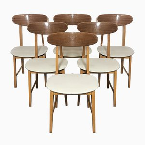 Scandinavian Dining Chairs, 1950s, Set of 6