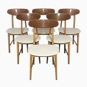 Skandinavische Esszimmerstühle, 1950er, 6er Set