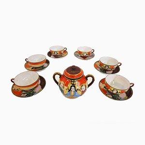 Handbemaltes Chinesisches Porzellan Set, 1950er, 13er Set