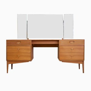 Mid-Century Teak and Walnut Dressing Table from Golden Key, 1960s