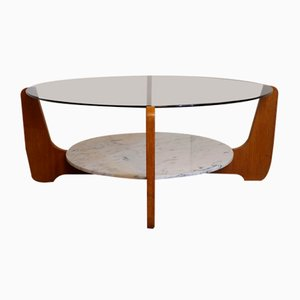 Vintage Coffee Table by Hugues Poignant, 1960s
