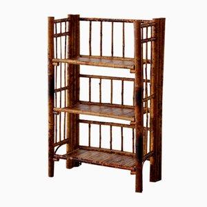 Kleines Bambus Bücherregal in Schildpatt-Optik