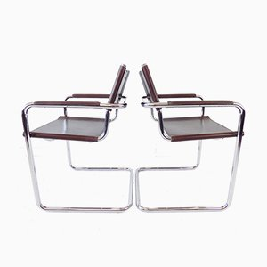 Model Mg 5 Chrome Cantilever Chairs by Mart Stam & Marcel Breuer for Matteo Grassi, Set of 2