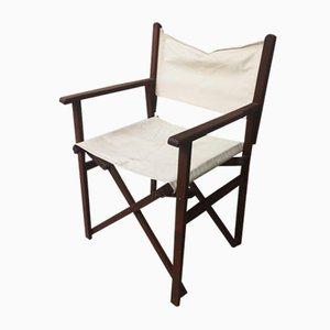 Chaise Pliante de Directeur Vintage en Bois Massif
