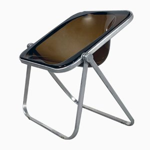 Smoke Plona Chair by Giancarlo Piretti for Castelli, 1970s