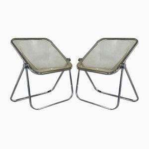 Lucite Plona Stuhl von Giancarlo Piretti für Castelli, 1970er