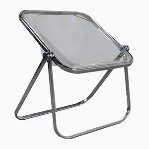 Klarer Plona Stuhl von Giancarlo Piretti für Castelli, 1970er