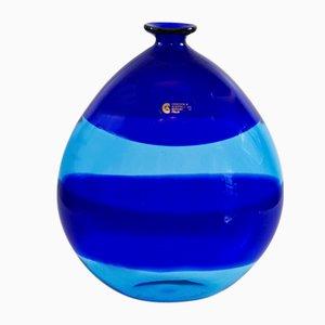 Deep Blue Murano Glass Vase by Cenedese & Albarelli