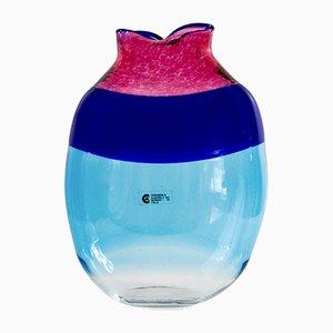 Vase aus Muranoglas von Cenedese and Albarelli