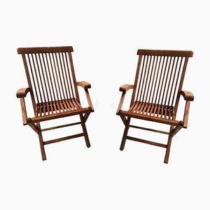 Mid-Century Teak Folding Garden Chair