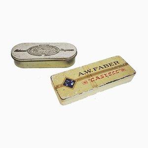 Scatole vintage di AW Faber Castell, anni '60, set di 2