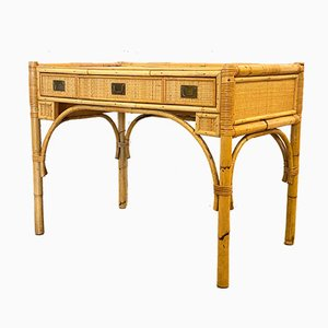 Bamboo and Rattan Desk, 1970s