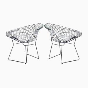 Verchromter Diamond Beistellstuhl von Harry Bertoia für Knoll Inc. / Knoll International, 1990er