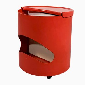 Red Robo Side Table by Joe Colombo for Elco, 1970s
