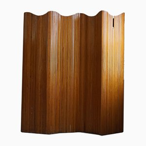 French Art Deco Room Divider in Patinated Pine from Baumann, Paris, 1940s