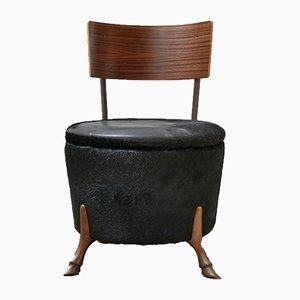 Mid-Century English Bronze Horse Leg Side Chair