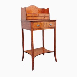 19th Century Satinwood Lady's Writing Table in the Sheraton Style