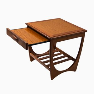 Teak Coffee Table with Shelf and Drawer Extension from G Plan