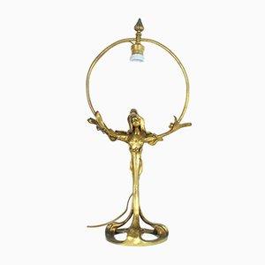 Lampe aus Bronze von H Sibeud