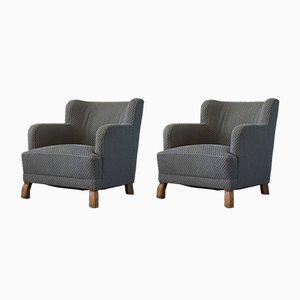 Schwedische Moderne Sessel, Otto Otto Schulz für Boet, 1940er, 2er Set