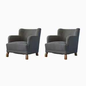 Swedish Modern Lounge Chairs Attributed to Otto Schulz for Boet, 1940s, Set of 2