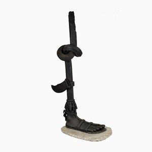 Fuß Skulptur aus Schmiedeeisen