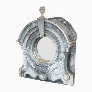 Large 19th Century Zinc Window Frame Mirror