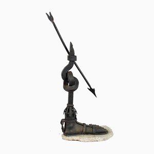 Big Wrought Iron Sculpture of Foot